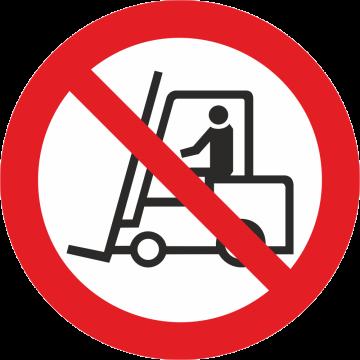Autocollant Interdiction  Aux Véhicules De Manutention