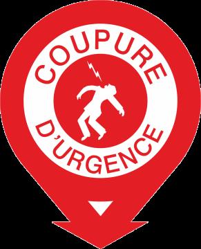 Autocollant Coupure D'urgence