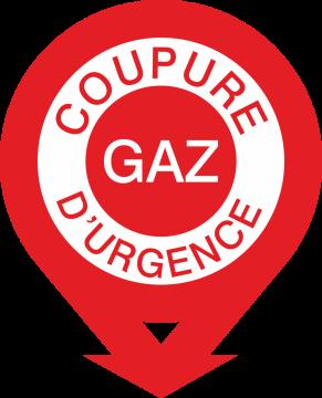 Autocollant Coupure Gaz D'urgence