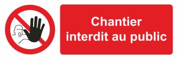 Autocollant Chantier Interdit Au Public