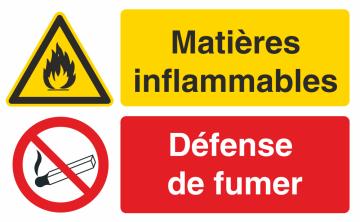 Autocollant Matières Inflammables / Défense De Fumer