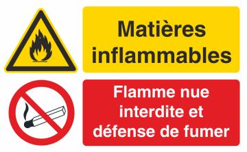 Autocollant Matières Inflammables / Défense Fumer 2