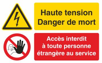 Autocollant Haute Tension Danger De Mort