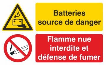 Autocollant Batteries Source De Danger