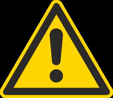 Autocollant Danger Général