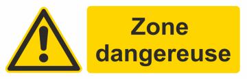 Autocollant Zone Dangereuse