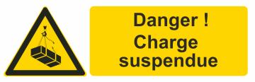 Autocollant Danger ! Charge Suspendue