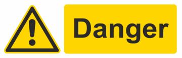 Autocollant Danger