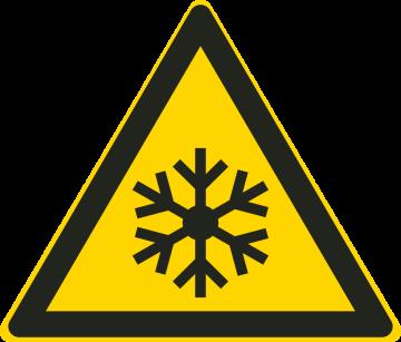 Autocollant Danger Basse Température