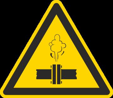 Autocollant Danger Vapeur Chaude