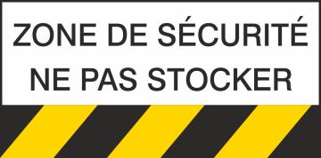 Autocollant Danger Zone De Sécurité Ne Pas Stocker