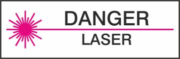 Autocollant Danger Laser