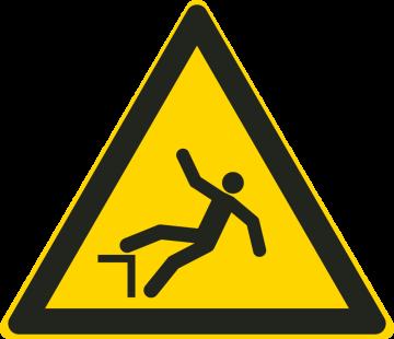 Autocollant Danger De Chute