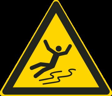 Autocollant Danger De Dérapage