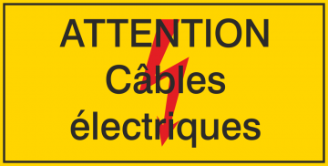 Autocollant Attention / Câbles électriques