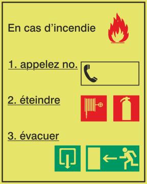 Autocollant Consigne De Sécurité Incendie 2