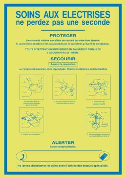 Autocollant Consigne De Sécurité Electrocution 2