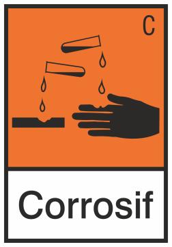 Autocollant Produit Dangereux Corrosif