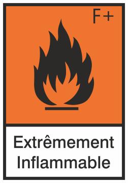 Autocollant Produit Dangereux Extremement Inflammable