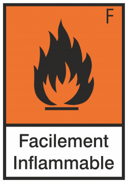 Autocollant Produit Dangereux Facilement Inflammable