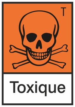 Autocollant Produit Dangereux Toxique