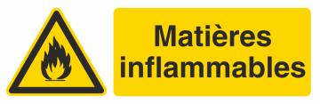 Autocollant Produit Dangereux Inflammables