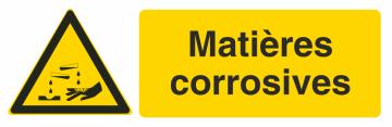 Autocollant Produit Dangereux Matières Corrosives