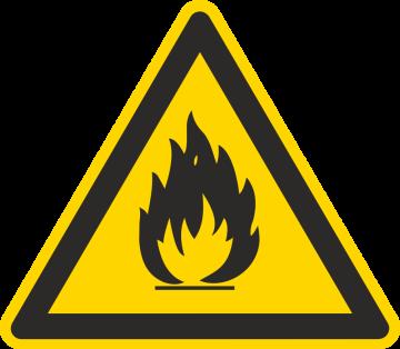 Autocollant Matières Inflammables