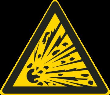 Autocollant Matières Explosives