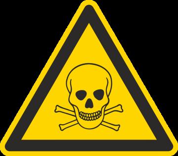 Autocollant Matières Toxiques