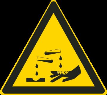 Autocollant Matières Corrosives