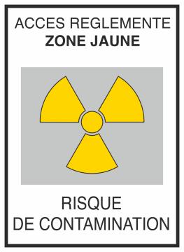 Autocollant Risque De Contamination Jaune