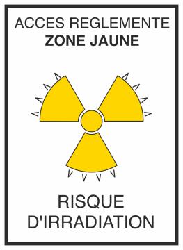 Autocollant Risque D'irradiation Jaune