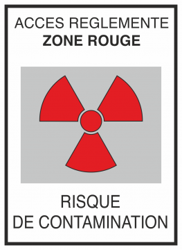 Autocollant Risque De Contamination Rouge