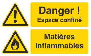 Autocollant Espace Confiné / Matières Inflammables