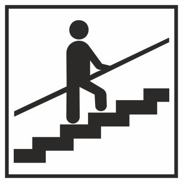 Autocollant Information Escalier Tenez Rampe 1