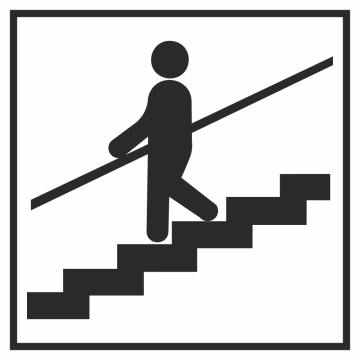 Autocollant Information Escalier Tenez Rampe 2
