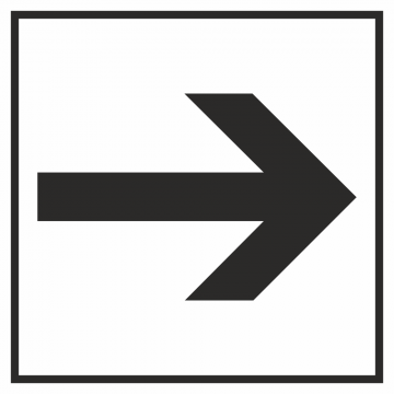 Autocollant Information Flèche