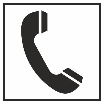 Autocollant Information Téléphone