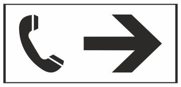 Autocollant Information Direction Téléphone