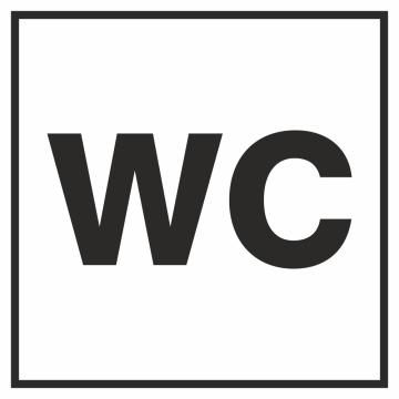 Autocollant Information Wc