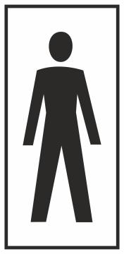Autocollant Information Wc Hommes