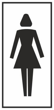 Autocollant Information Wc Femmes