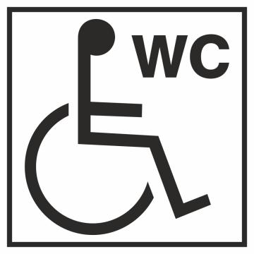 Autocollant Information Wc Handicapé