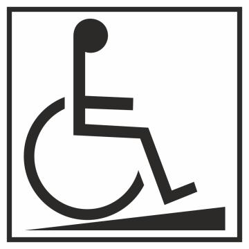 Autocollant Information Accès Handicapé