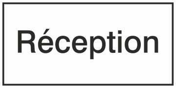 Autocollant Information Réception
