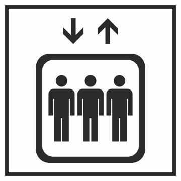 Autocollant Information Ascenseur