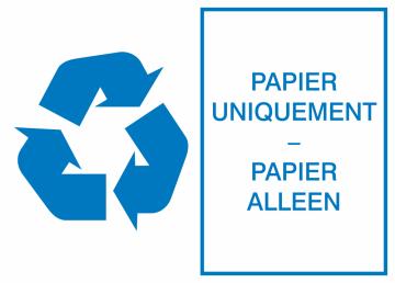 Autocollant Environnement Papier