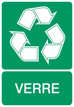 Autocollant Recyclage Verre