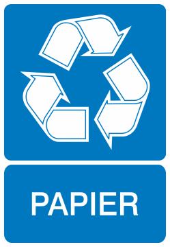 Autocollant Recyclage Papier